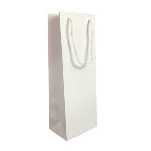Punga cadouri plastifiata C sticla alba