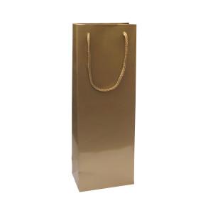Punga cadouri plastifiata C sticla aurie