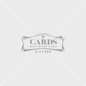 Cutie Carton Alba Rotunda cu Dunga Aurie la Geam 3/Set CTC141