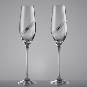 Set pahare miri Cristal Bohemia Sparkling Ring - cu Cristale Swarovski