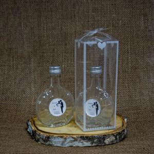 Sticla Marturii 100 ml Ploscuta Pachet Cadou Miri
