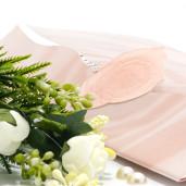 Invitatie de nunta cu calc si trandafir somon 125038 TBZ