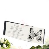 Invitatie de nunta florala cu fluture 140001 TBZ