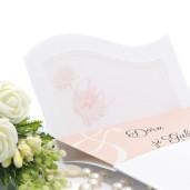 Invitatie de nunta cu calc si margarete portocalii 150029 TBZ