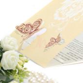 Invitatie de nunta florala cu fluturi 160005 TBZ