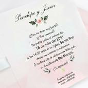 Invitatie cu interior roz degrade 39724 CLARA