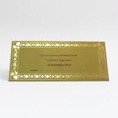 Plic pentru bani auriu cu inimioare 911003 TBZ