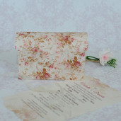 Invitatie de nunta florala tip cufar cu papirus 2202 POLEN