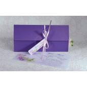 Invitatie de nunta florala mov 2233 POLEN