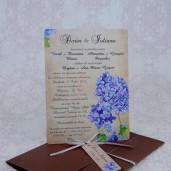 Invitatie de nunta cu flori de liliac 2232 Polen