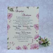 Invitatie de nunta mov florala 2201 Polen