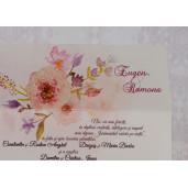 Invitatie de nunta florala in forma de plic 2214 Polen