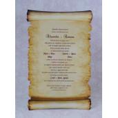 Invitatie de nunta papirus 2206 Polen