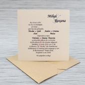 Invitatie de nunta auriu inchis sidefata 1117 Polen
