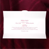 Invitatie de nunta haiaoasa cu inimioare si fluturi roz rosii maro 2136 TBZ