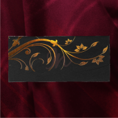 Invitatie de nunta eleganta negru cu auriu 2174 TBZ