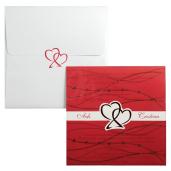 Invitatie de nunta cu calc rosu si inimioare 140003 TBZ