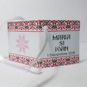 Eticheta - Card dublu perforat alb 66