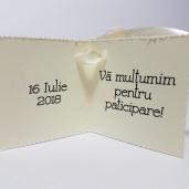 Eticheta - Card dublu perforat crem 13