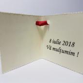 Eticheta - Card dublu perforat crem 35