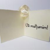 Eticheta - Card dublu perforat crem 60