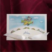 Invitatie de botez cu avion si barza 125054 TBZ