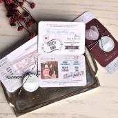 Invitatie tip pasaport si bilet avion 39822 EMMA