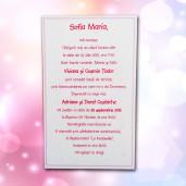 Invitatie de botez roz cu bebe 102 LARA BABY - BEST