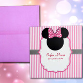 Invitatie de botez cu Minnie Mouse 106 LARA BABY - BEST