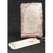 Invitatie de nunta pergament vintage sidef 1087 STYLISH