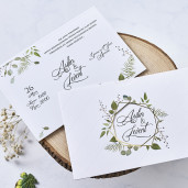 Invitatie de nunta moderna cu frunze 1115 BUTIQLINE