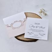 Invitatie de nunta cu model de dantela 1118 BUTIQLINE