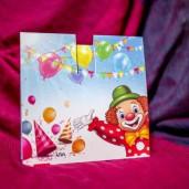 Invitatie de botez 3D cu clovn si baloane 1127 LARA BABY - BEST