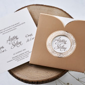 Invitatie de nunta retro 1129 BUTIQLINE