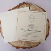 Invitatie cu modele in stil baroc 1134 BUTIQLINE