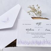 Invitatie de nunta cu lavanda 1141 BUTIQLINE