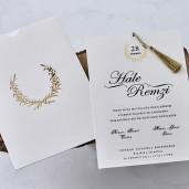 Invitatie de nunta cu inscriptie aurie 1142 BUTIQLINE
