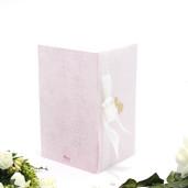 Invitatie de nunta cu calc roz si inimioare aurii 115402 TBZ