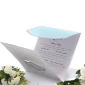 Invitatie de nunta maro deschis si turquoise 115433 TBZ