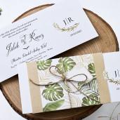 Invitatie de nunta moderna cu frunze 1157 BUTIQLINE