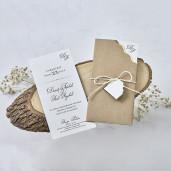 Invitatie de nunta cu fundita 1169  BUTIQLINE