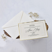 Invitatie de nunta cu margini aurii 1172 BUTIQLINE