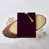 Invitatie de nunta cu plic de catifea 1173 BUTIQLINE