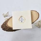 Invitatie de nunta cu modele geometrice 1183 BUTIQLINE