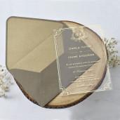 Invitatie pe plastic transparent 1185 BUTIQLINE