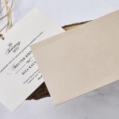 Invitatie eleganta bej 1189 BUTIQLINE