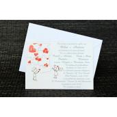 Invitatie de nunta haioasa model puzzle 35238 Polen