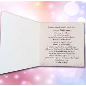 Invitatie de botez cu bebe pe leagan 127 LARA BABY - BEST