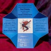 Invitatie de botez tip cutiuta cu Spiderman 131 LARA BABY - BEST