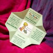 Invitatie de botez tip cutiuta cu copilas 132 LARA BABY - BEST